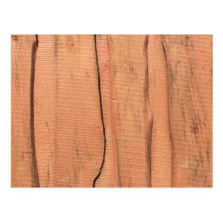 Wooden texture postcard