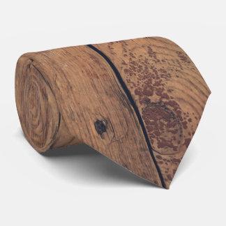 Wooden texture tie