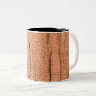 Wooden texture Two-Tone coffee mug