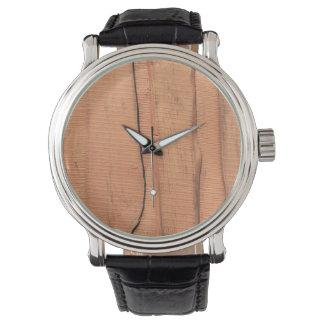 Wooden texture watch