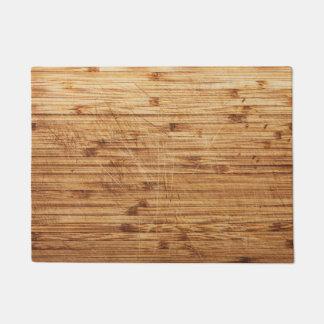 wooden textures doormat