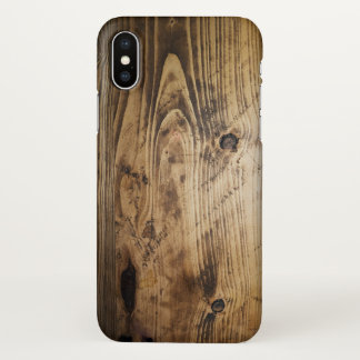 Wooden textures, print, nature iPhone x case