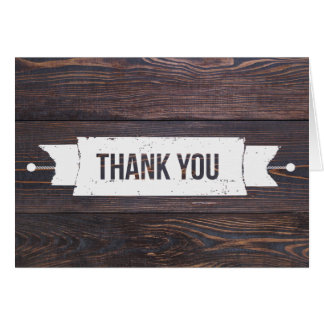 Wooden Thank You Card
