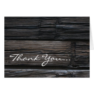 Wooden Timbers ~ Thank You... Card