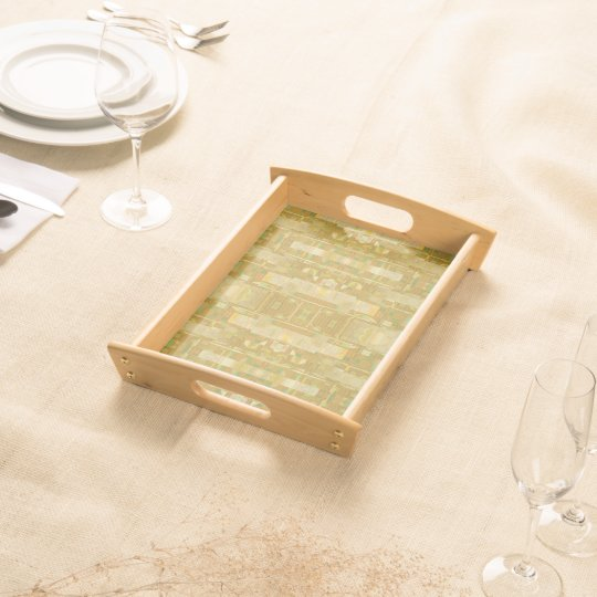 Wooden Tray - Bubbles New Square Food Tray
