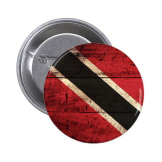 Wooden Trinidad and Tobago Flag Pinback Buttons