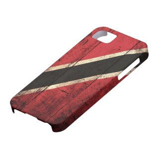 Wooden Trinidad and Tobago Flag iPhone 5 Cases