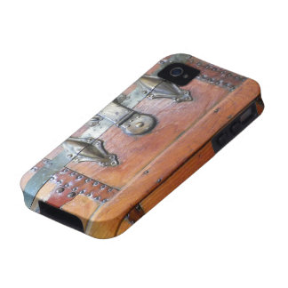 Wooden Trunk Chest with Latches iPhone 4 Cases
