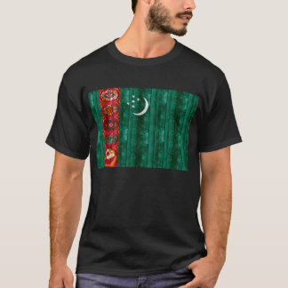 Wooden Turkmen Flag T-Shirt
