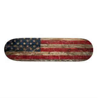 Wooden Vintage American Flag Skate Decks