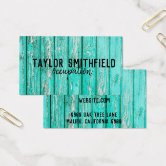 wooden vintage rust authentic trendy business card