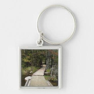 Wooden Walkway Keychain