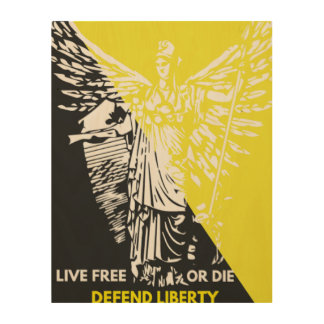 Wooden wall art for Liberty Lovers Wood Prints