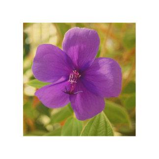 Wooden Wall Art - Purple Flower