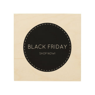 Wooden wall art with Shopping sign : Black Friday