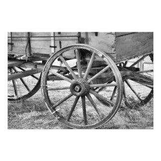 Wooden Wheels Photo Print