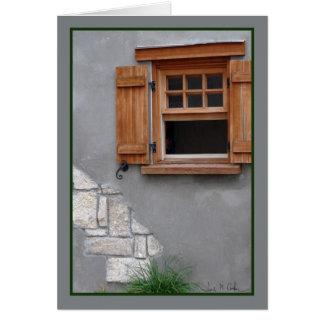 Wooden window card