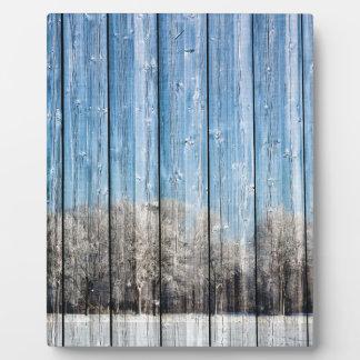 Wooden winters plaque
