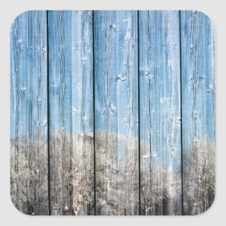 Wooden winters square sticker