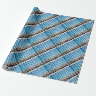 Wooden winters wrapping paper
