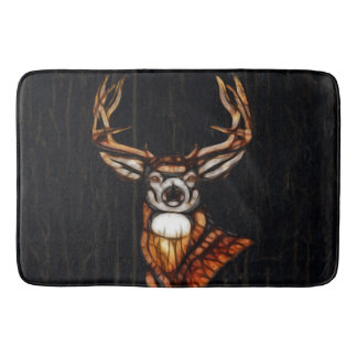 Wooden Wood Deer Rustic Country Personalized Bath Mat