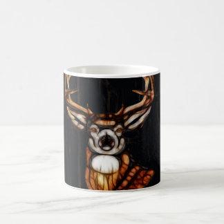 Wooden Wood Deer Rustic Country Personalized Magic Mug