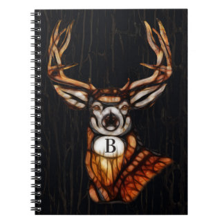 Wooden Wood Deer Rustic Country Personalized Spiral Notebook