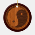 Wooden Yin Yang Ornament