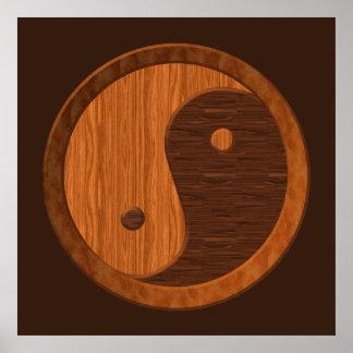 Wooden Yin Yang Poster