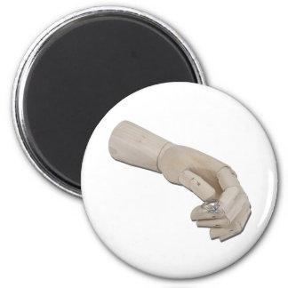 WoodenHandOfferEngagementRing011011 Fridge Magnets