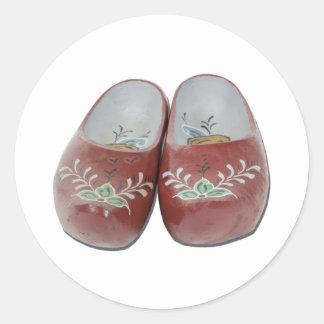 WoodenShoes050111 Round Sticker