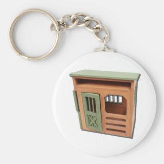 WoodenStorageShed022111 Basic Round Button Keychain