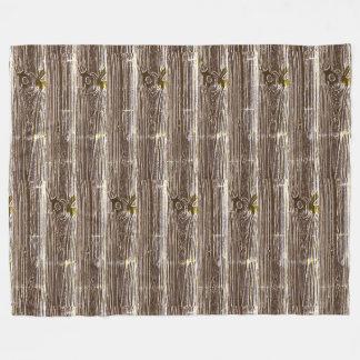 Woodgrain Art Fleece Blanket