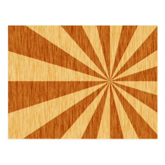 woodgrain starburst pattern postcard