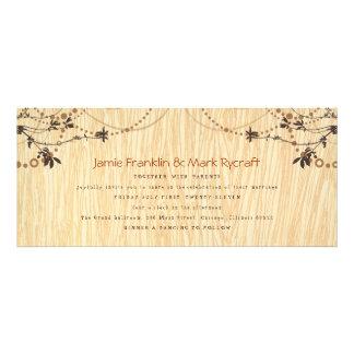 Woodgrain Tea Length Wedding Invitation