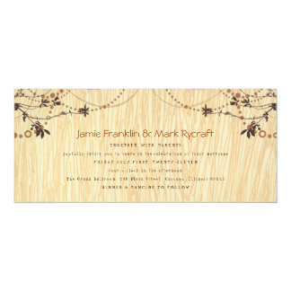 Woodgrain Tea Length Wedding Invitation