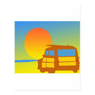 Woodie at Sunset Postcard