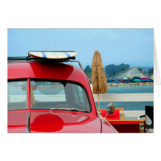 Woodie at the beach card