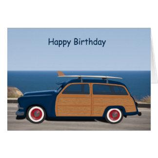 Woodie birthday card