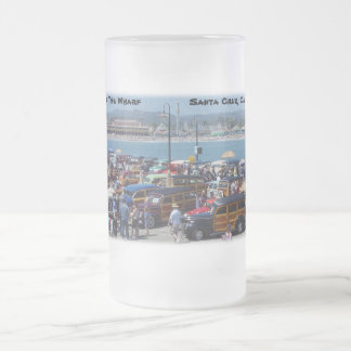 Woodies On The Wharf Santa Cruz-Frosted Mug