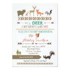 Woodland Animal Baby Shower Card