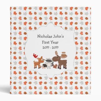 Woodland Animal baby's first year scrapbook album 3 Ring Binders