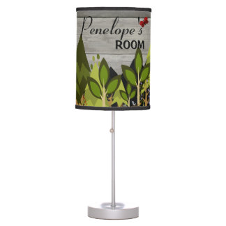 Woodland Animal Nursery Rustic Table Lamp