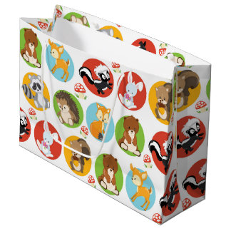 Woodland Animal party large gift bag