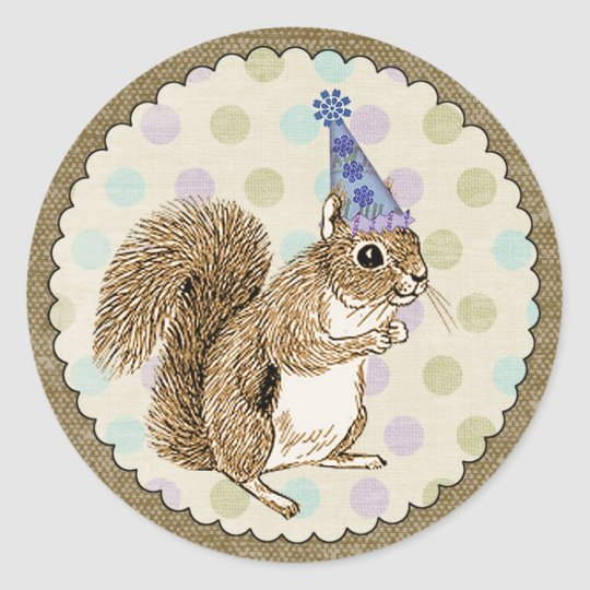 Woodland Animal Squirrel Sticker
