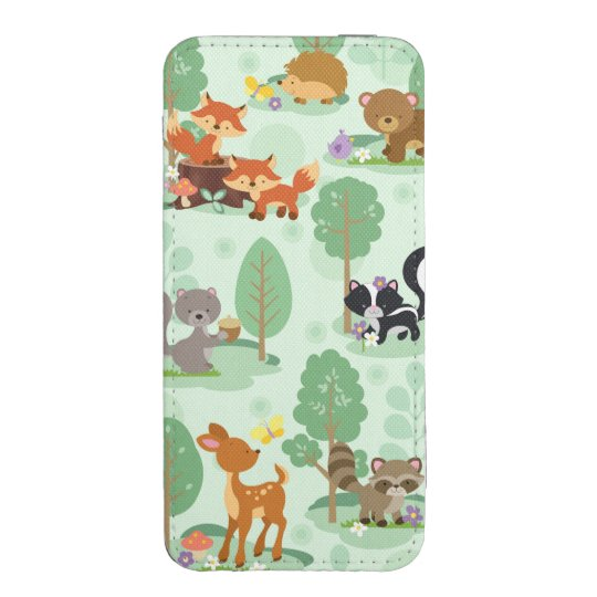 Woodland Animals 5/5S/5C Smartphone Pouch iPhone Pouch
