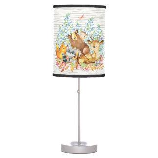Woodland Animals Baby Girl   Boy Nursery Lamp