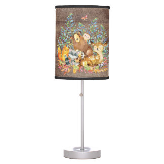 Woodland Animals Baby Girl | Boy Nursery Lamp