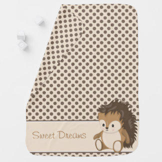 Woodland Animals | Baby Hedgehog | Personalized Baby Blanket
