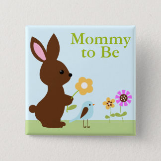 Woodland Animals Baby Shower 2 Inch Square Button